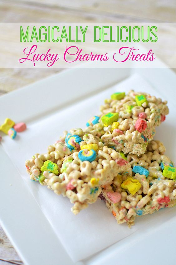 Lady and the blog Lucky Charms Treats