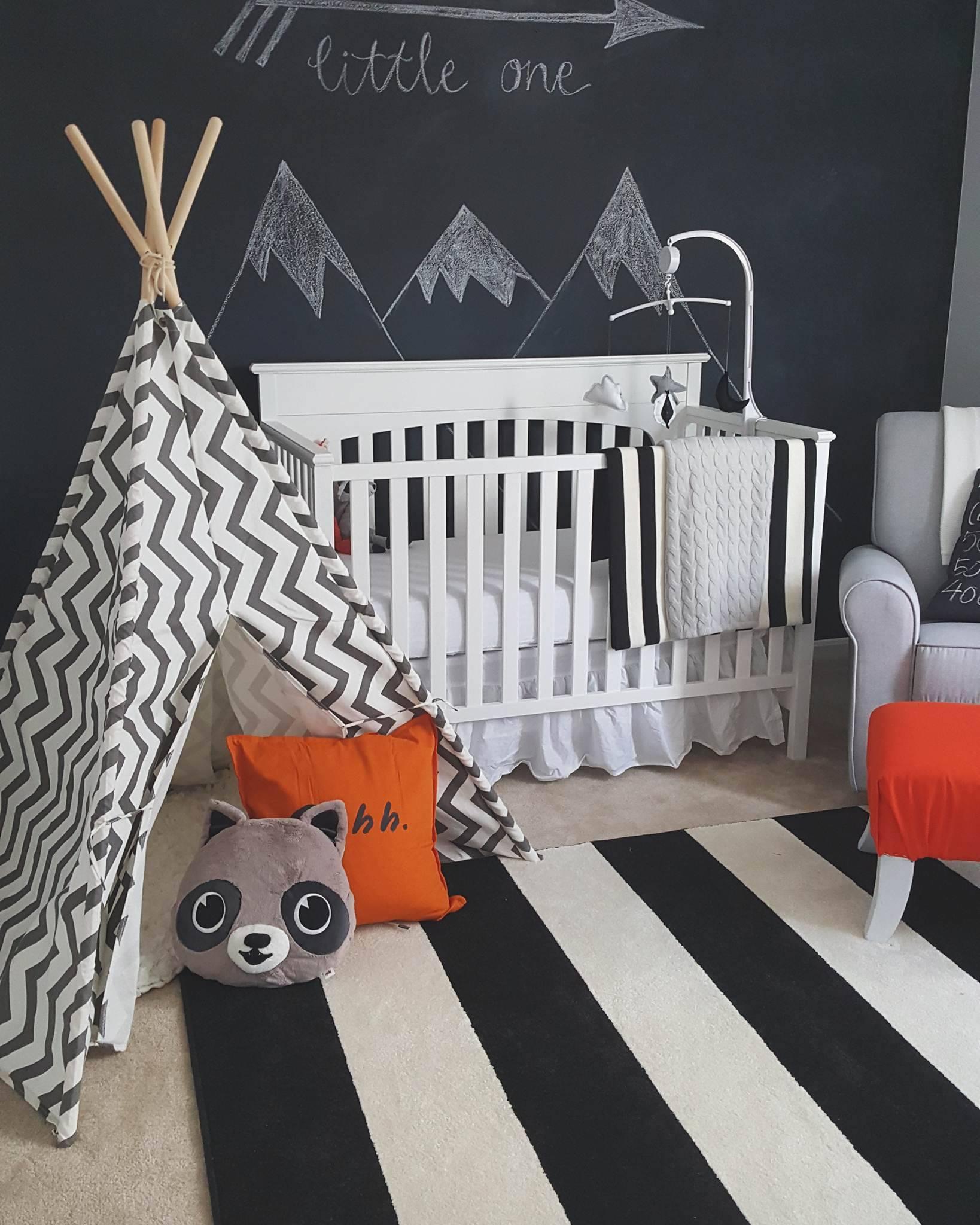 Gray Baby Boy Room Ideas: Black, White And Grey Theme Nursery Inspiration