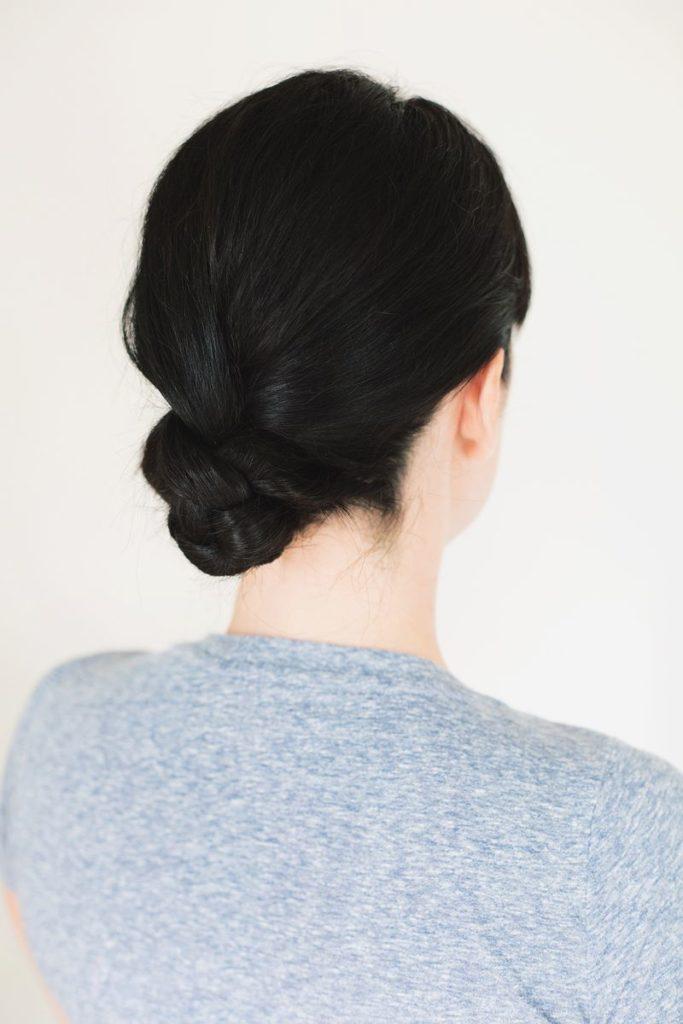 five min braided bun